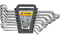 Ключи накидные изогнутые, 6-17 мм, набор 6 шт., TOPEX 35D855