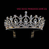 Корона для конкурса, диадема под серебро, тиара, высота 5,5 см., фото 7