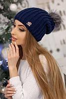 Женская вязаная шапочка Роберта джинс