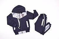 Костюм спортивный для мальчика (цв.серый/т.синий) трикотажный Роста в наличии : 92,98,104,110,116 арт.B03