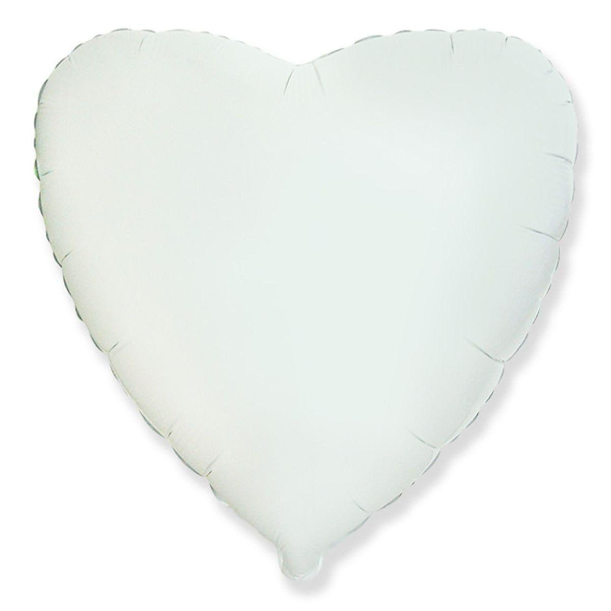 """Сердце 18"""" (46см) Белое, Flexmetal"""