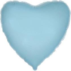 """Сердце 18"""" (46см) Голубое, Flexmetal"""