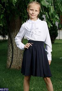 Юбка школьная для девочки Размер: 116, 128, 140, 152 мод 153 цвет черные , синие ткань: хлопок,полиестер