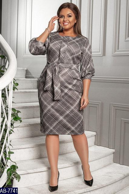 Повседневное платье большого размера 50,52,54,56,58