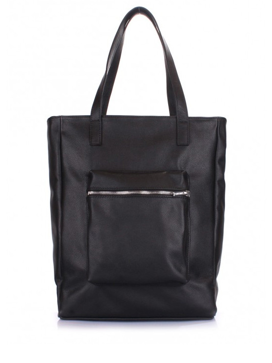 Черная сумка натуральная кожа 6528-11