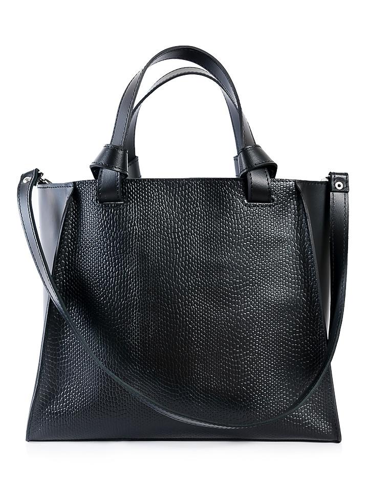 Кожаная сумка черная Classik 6693-11