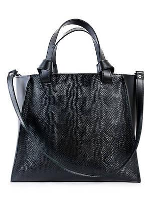 Кожаная сумка черная Classik 6693-11, фото 2