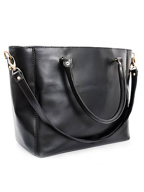 Кожаная сумка черная Liya 6694-11, фото 2