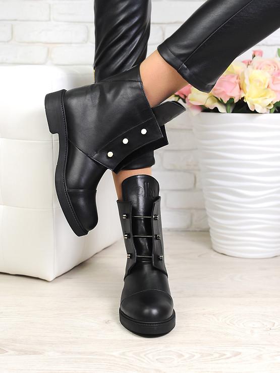 Кожаные ботинки с болтами 6732-28