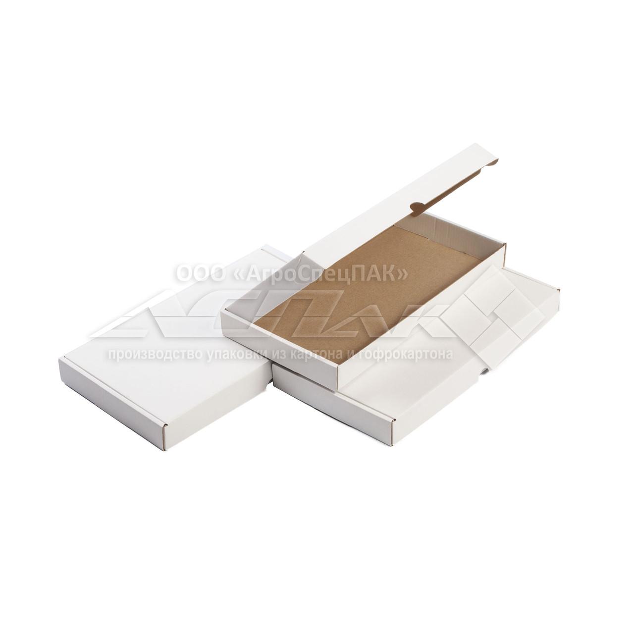 Картонные коробки самосборные 300*155*30 белые
