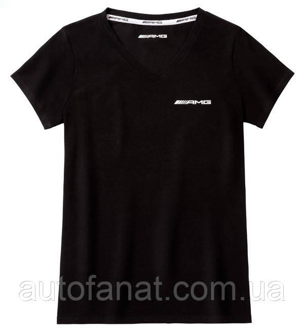 Оригинальная женская футболка Mercedes Women's T-shirt, AMG, Black (B66958298)