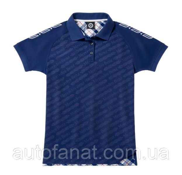 Оригинальная женская рубашка-поло Mercedes Women's Polo Shirt, Classic, Navy (B66041582)