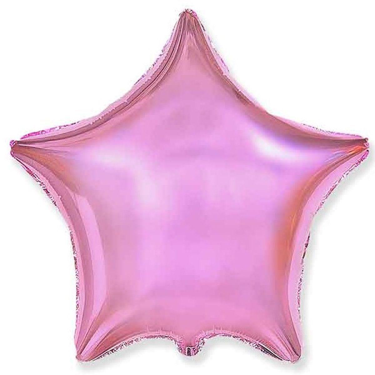 """Звезда 18"""" (46 см) Розовый Металлик, Flexmetal"""