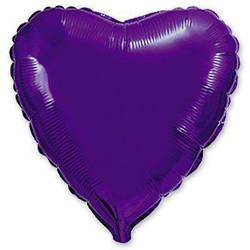 """Сердце 18"""" (46 см) Фиолетовое, Flexmetal"""