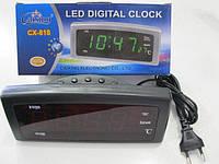 Электронные настольные Часы Caixing CX 818, сетевые часы, электронный будильник, электронные цифровые часы, фото 1
