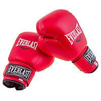 Боксерские перчатки DX Everlast красные мягкие EVDX380-6R