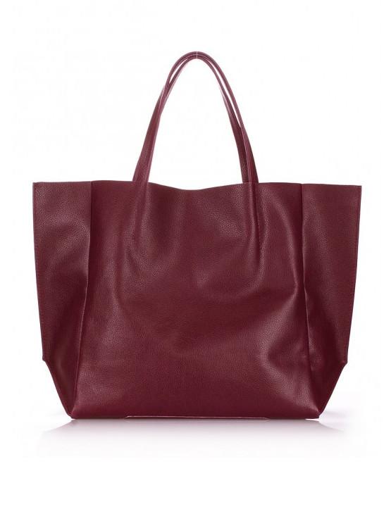 Сумка-шоппер кожаная Цвет:марсала 6578-11