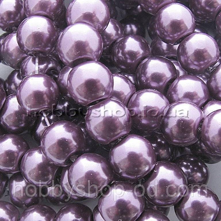 Жемчуг керамический 6 мм фиолетовый (130-150 шт)