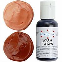 Краситель гелевый Americolor  Темно- коричневый 21 грамм