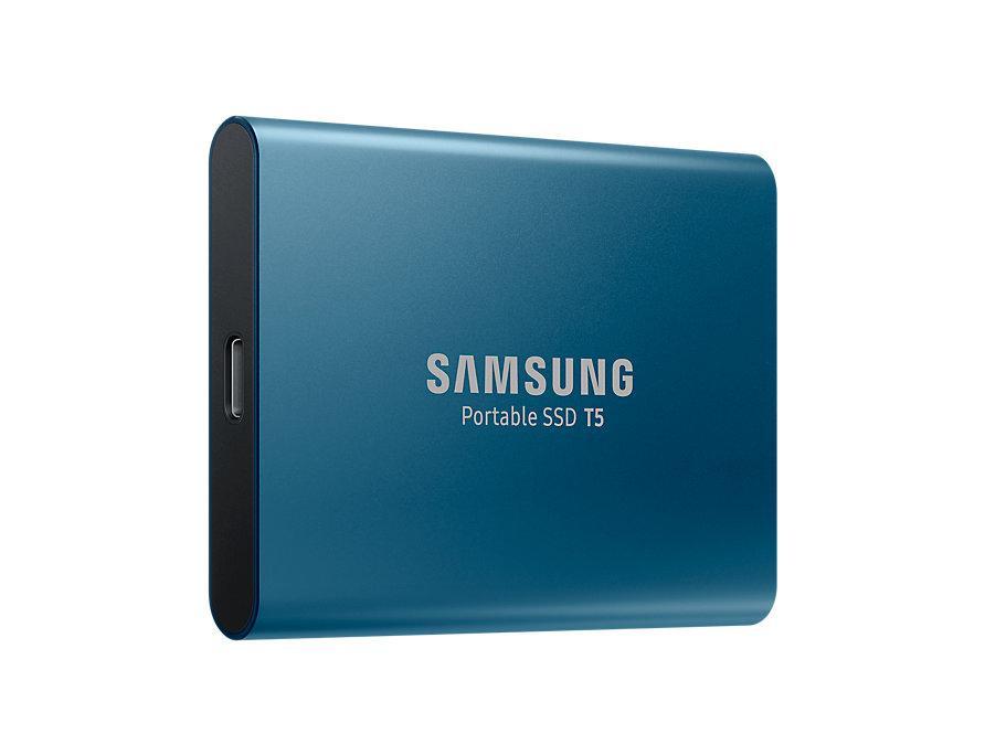 Внешний накопитель SSD, 250Gb, Samsung Portable SSD T5, Blue, USB 3.1,