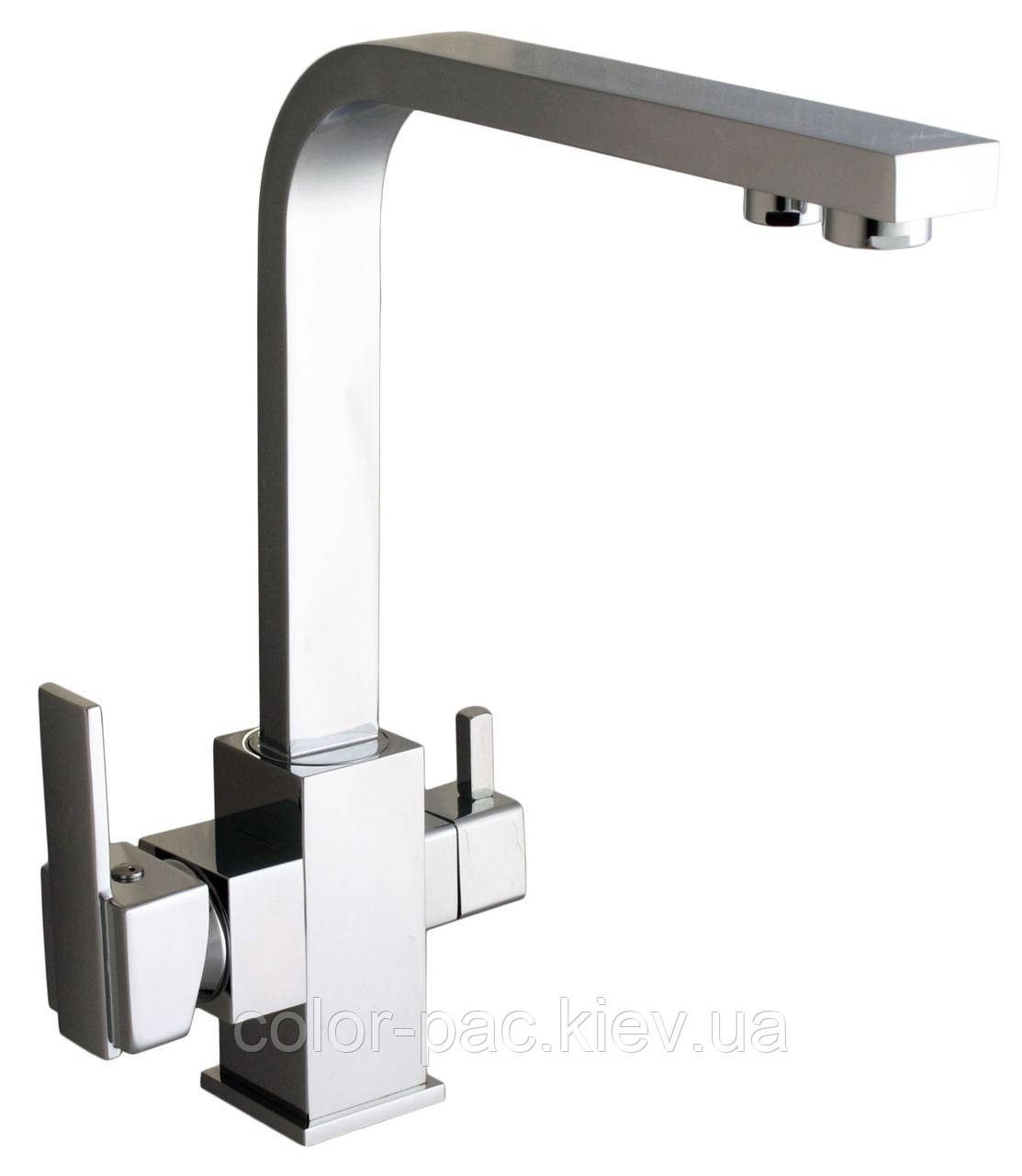 Смеситель кухонный Globus Lux LAZER GLLR-0111 CHROM ХРОМ комбинированный