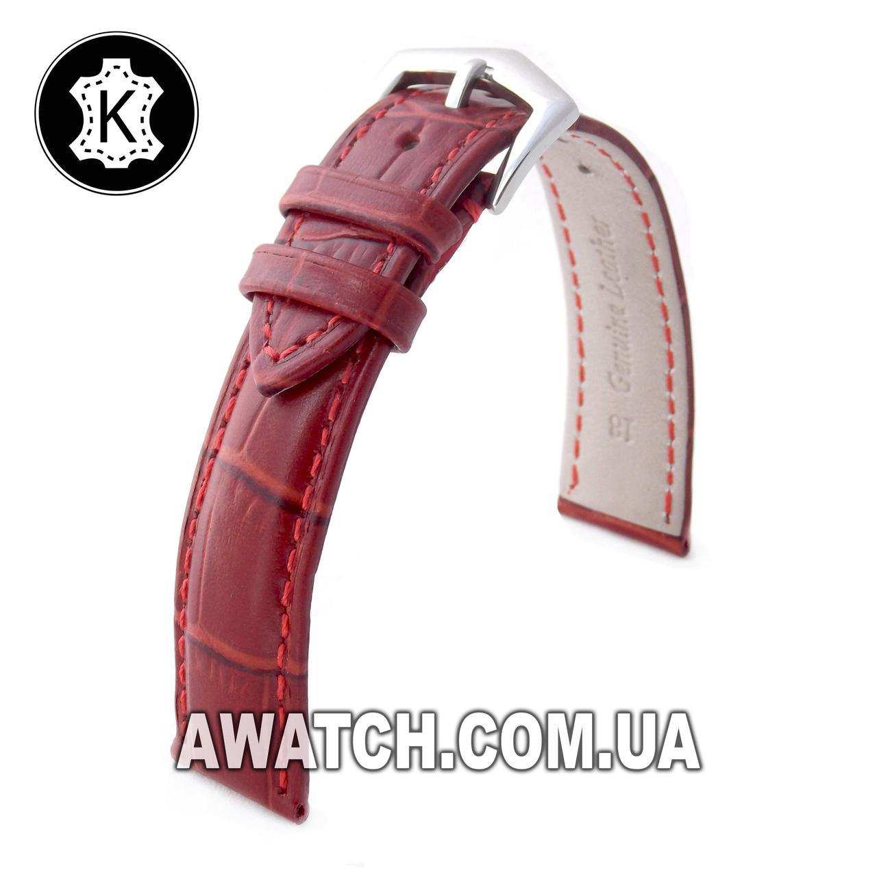 Ремінець шкіряний Catfskin для наручних годинників з класичною застібкою, коричневий, 10 мм