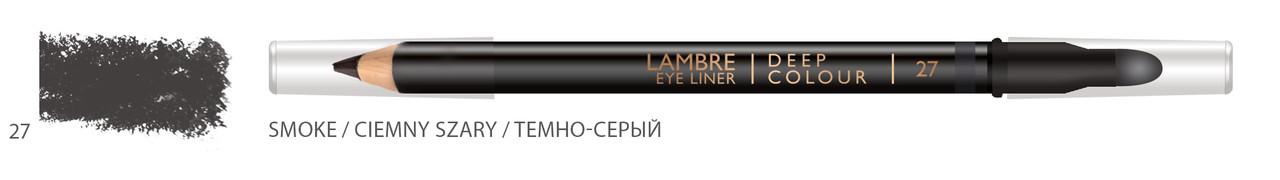 Карандаш для глаз LAMBRE Deep Colour Eye Liner №27 Smoke/Темно-серый