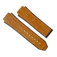 Ремешок каучуковый для наручных часов Hublot, коричневый, 26x22 мм