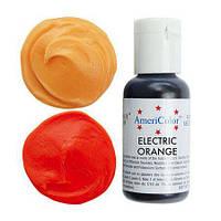 Краситель гелевый для мастики Americolor оранжевый электрик  21 грамм