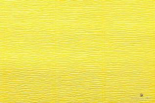 Креп бумага  желтая