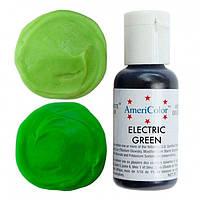 Краситель гелевый Americolor для мастики и крема Зеленый электрик  21 грамм