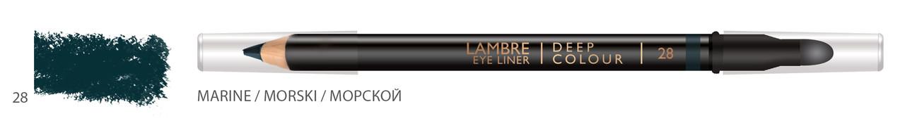 Карандаш для глаз LAMBRE Deep Colour Eye Liner №28 Marine/Морской