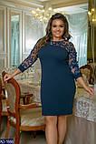 Элегантное женское платье креп дайвинг Размер: 48-50, 52-54, 56-58  , фото 3