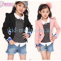 Пиджак с плечиками для девочки