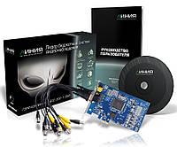 Гибридная плата видеозахвата на восемь камер Линия PCI-E 8x25 Hybrid IP