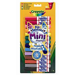 Набор смываемых мини маркеров Crayola 14 шт (8343)