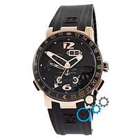 Мужские наручные часы  Ulysse Nardin ExecМужские наручные часы  Utive El Toro GMT PerpetМужские наручные часы  Ual Black-Gold-Black