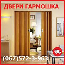 Двері гармошка під будь-які розміри. Двері ПВХ, 24 кольору на складі. Міжкімнатні двері гармошка