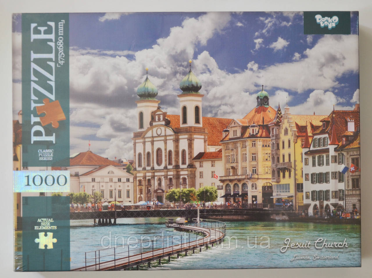 Пазл 1000 елементів / Швейцарія - церква