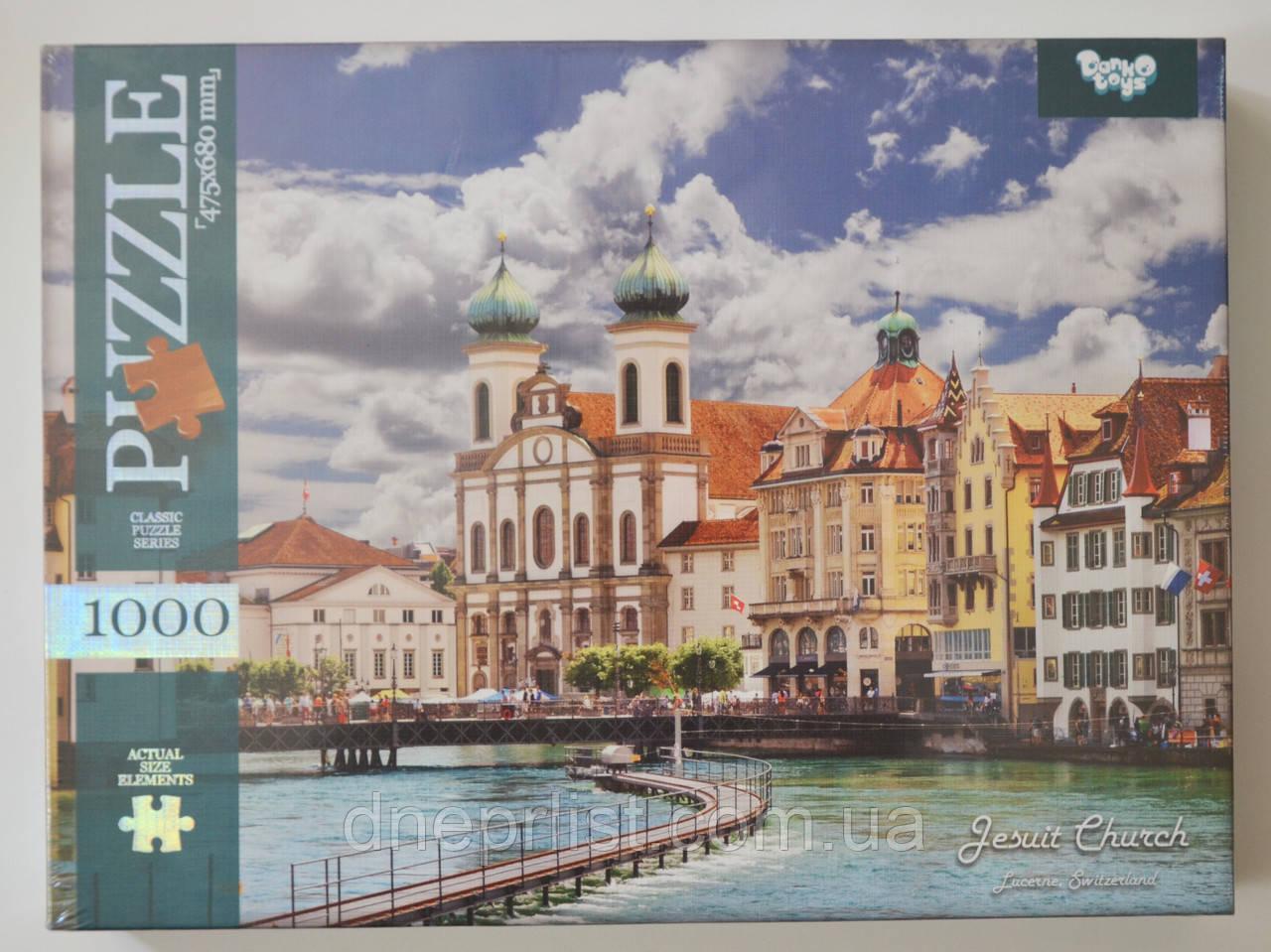 Пазл 1000 элементов / Швейцария - церковь
