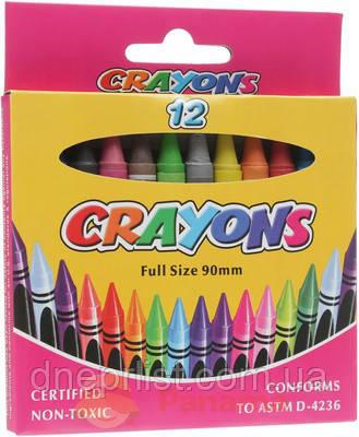 Карандаши восковые, Crayons, 12 цветов, фото 2