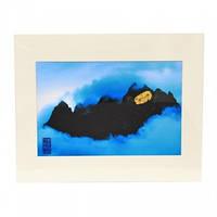 Синяя гора с золотом для карьерного успеха и богатства