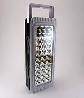 Светодиодный фонарь Yajia YJ-6816, питание от аккумулятора или 3-х батареек типа D, 33 светодиода, 2 режима