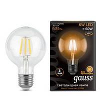 Светодиодная лампа Gauss Filament G95 E27 6W 2700К 185-265V