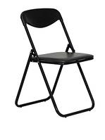 Раскладной мобильный стул коричневый со спинкой