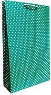 Пакет бумажный подарочный большой вертикальный крафт 41*24,5см W3-7k
