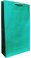 Пакет бумажный подарочный большой вертикальный крафт 41*24,5см W3-6k