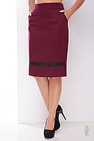 Узкая юбка Пола-кружево-1 по колено