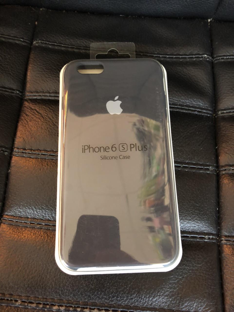 Накладка Silicone Case (AAAA Copy) для iPhone 6Plus темно-серый