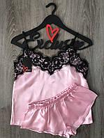 Копия Розовый комплект для дома шорты и майка